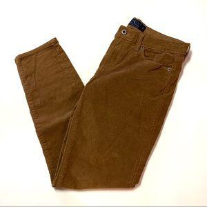 Lucky brand brown corduroy skinny pants